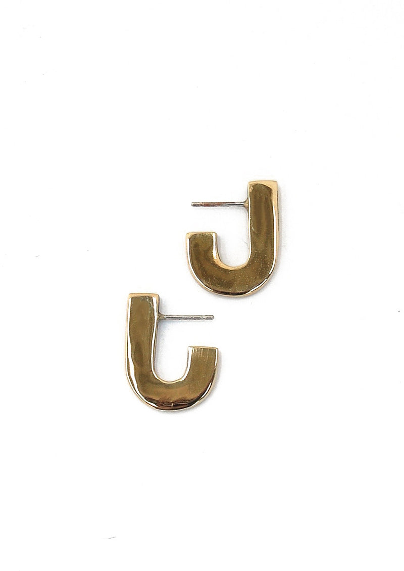 Juxta Earrings // Brass