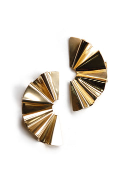 Faldi Earrings // Brass