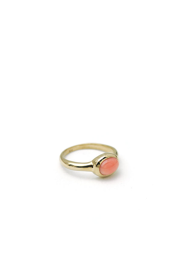 Coral Ring // 14k Gold