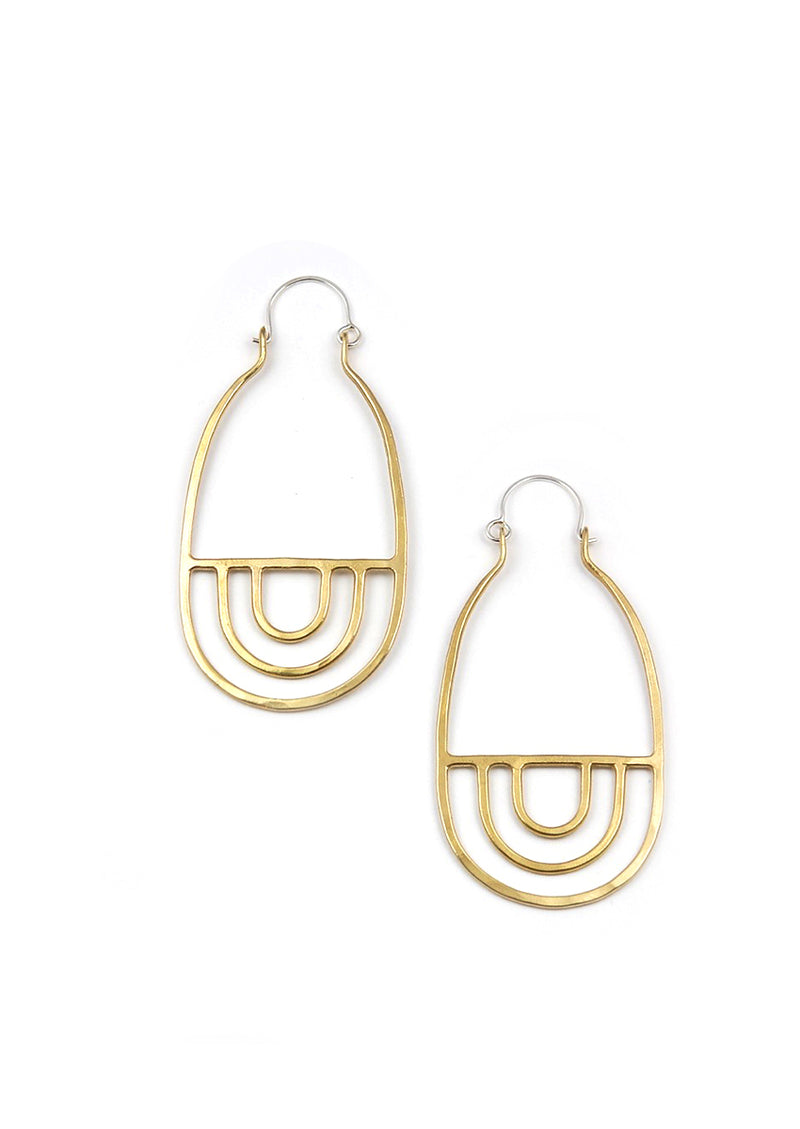 Arcos Earrings // Brass