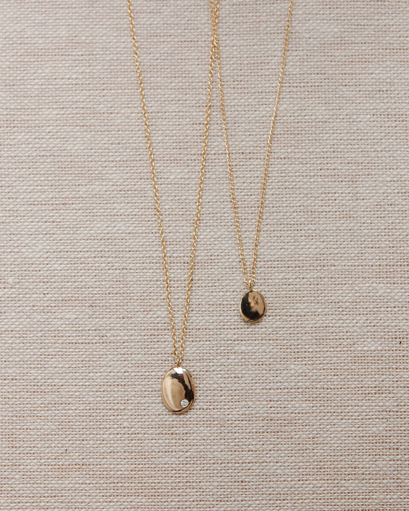 Tiny Drop Necklace // 14k Gold