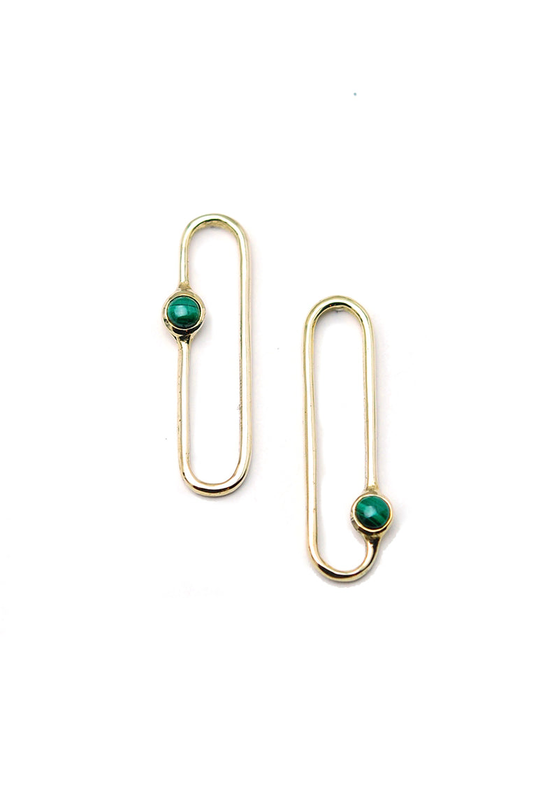 Amparo Earrings // Brass