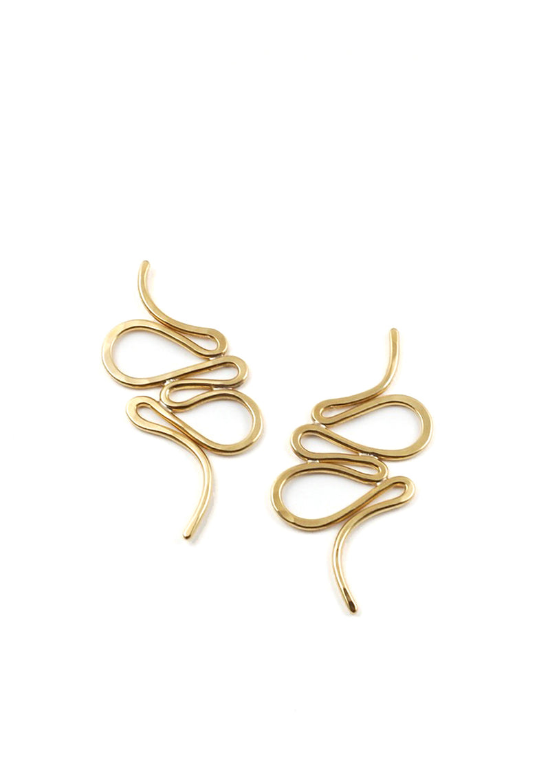 Estilo Earrings // Brass