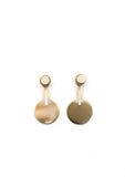 Lumen Earrings // Brass