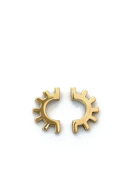 Ojo Earrings // Brass