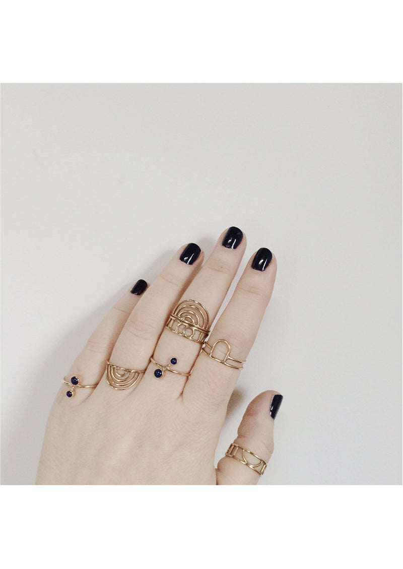Open Arch Ring // 14k Gold