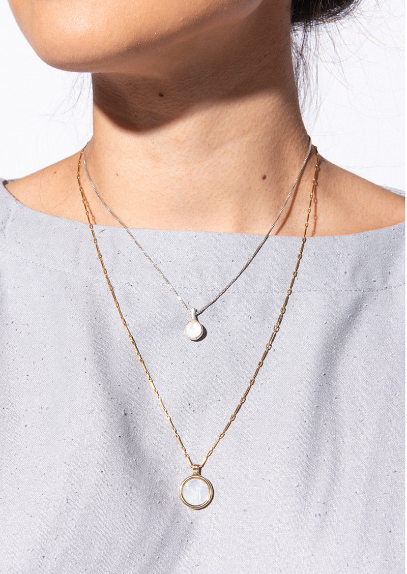 Stilla Necklace // Silver