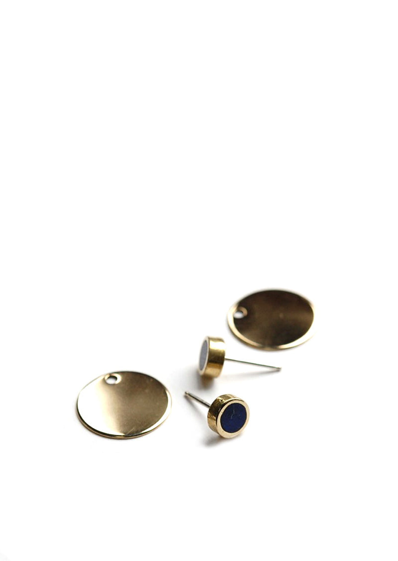 Eclipse Earrings // Brass