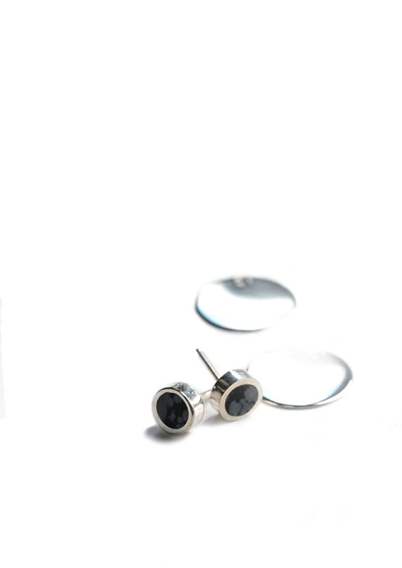 Eclipse Earrings // Silver