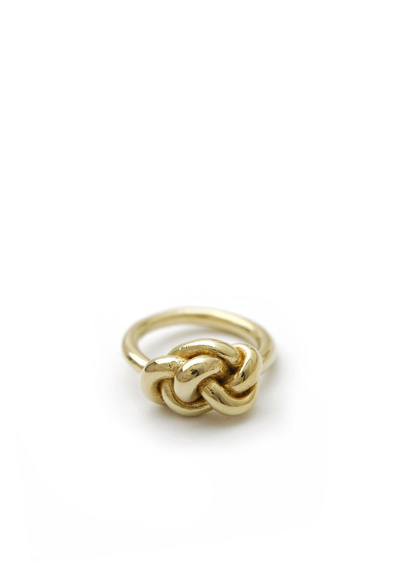 Knot Ring // Brass // Size 5