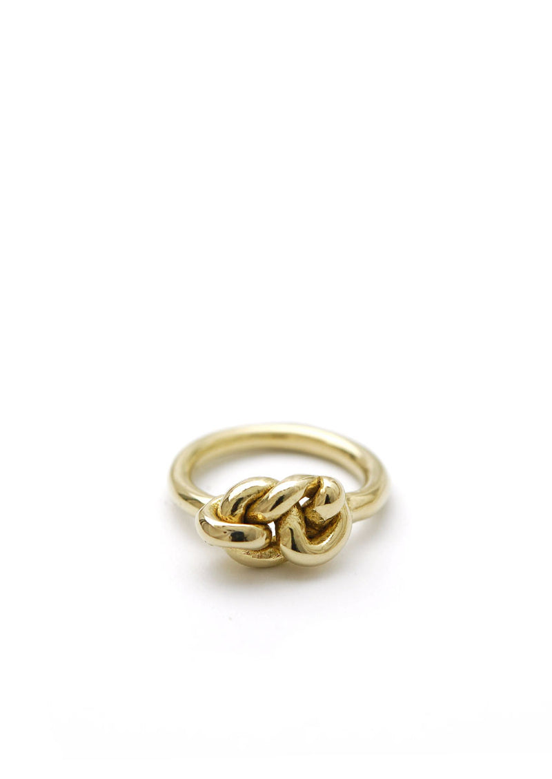 Knot Ring // Brass // Size 6