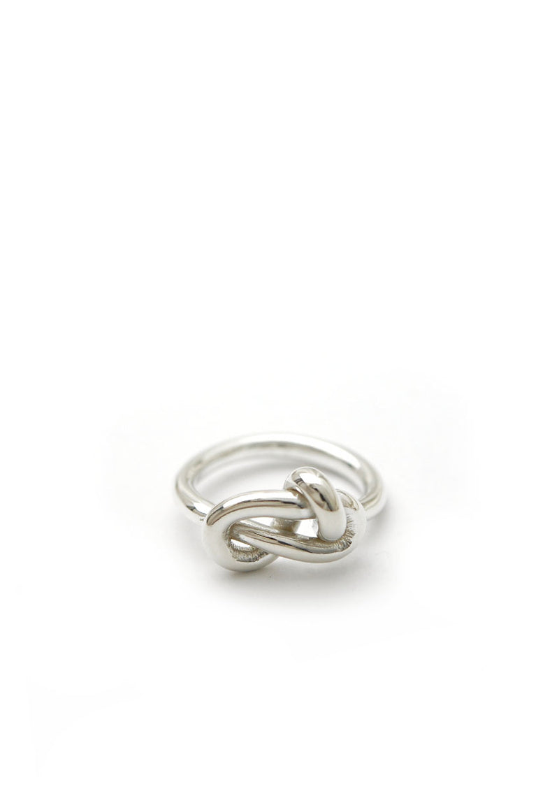 Knot Ring // Sterling Silver // Size 5.5