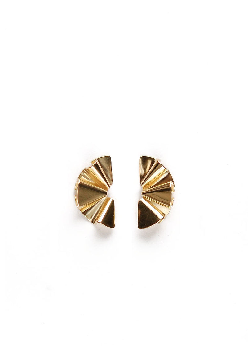Micro Faldi Earrings // Brass