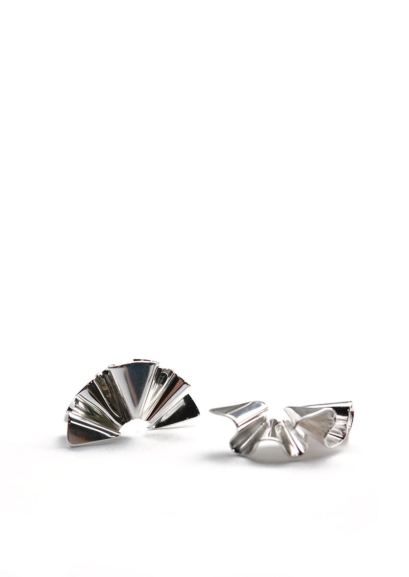 Micro Faldi Earrings // Silver