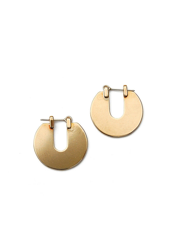 Orbis Earrings // Brass