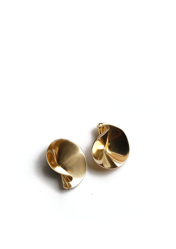 Selo Earrings // Brass