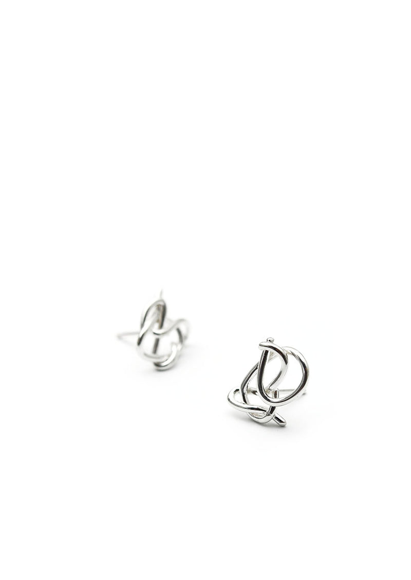 Knot Studs // Sterling Silver // No. 3