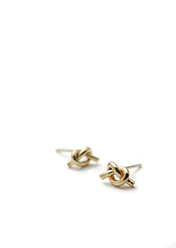 Petite Knot Earrings // 14k Gold