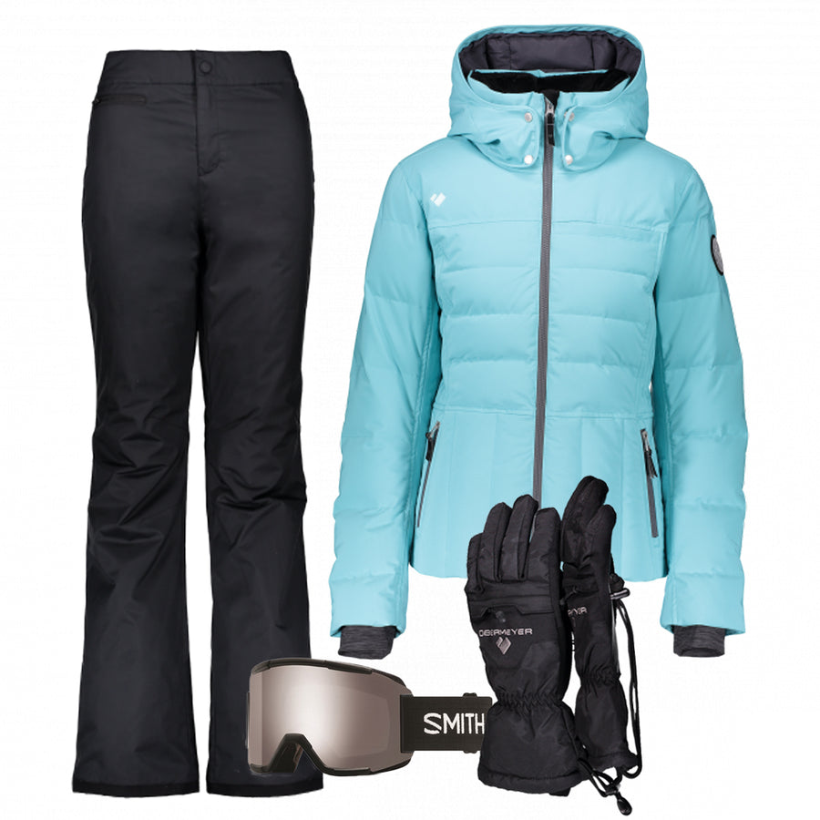 Women's Ski Gear Outfit (Laguna/Black)