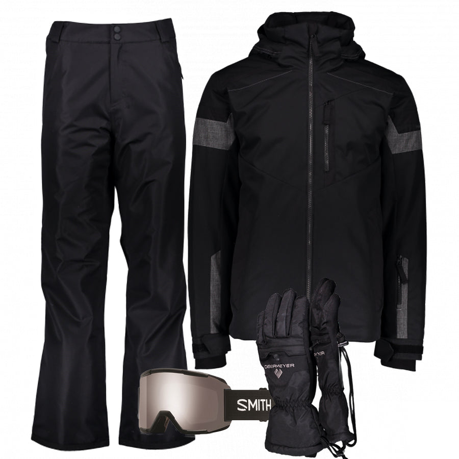 Men's Ski Gear Outfit (Black/Black)