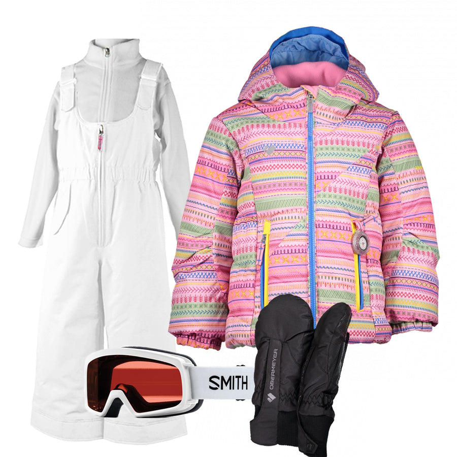 Children's Ski Gear Outfit (Starburst/White - Premium)