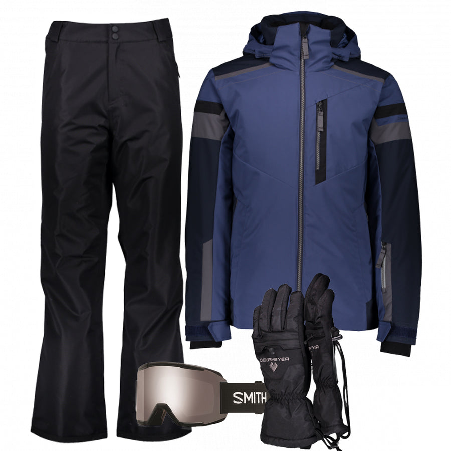Men's Ski Gear Outfit (Blue/Black)