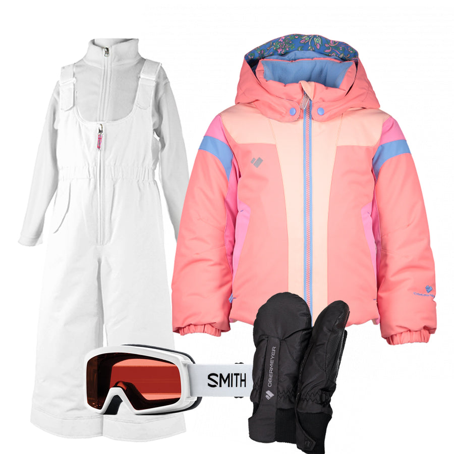 Children's Ski Gear Outfit (Just Peachy/White - Premium)