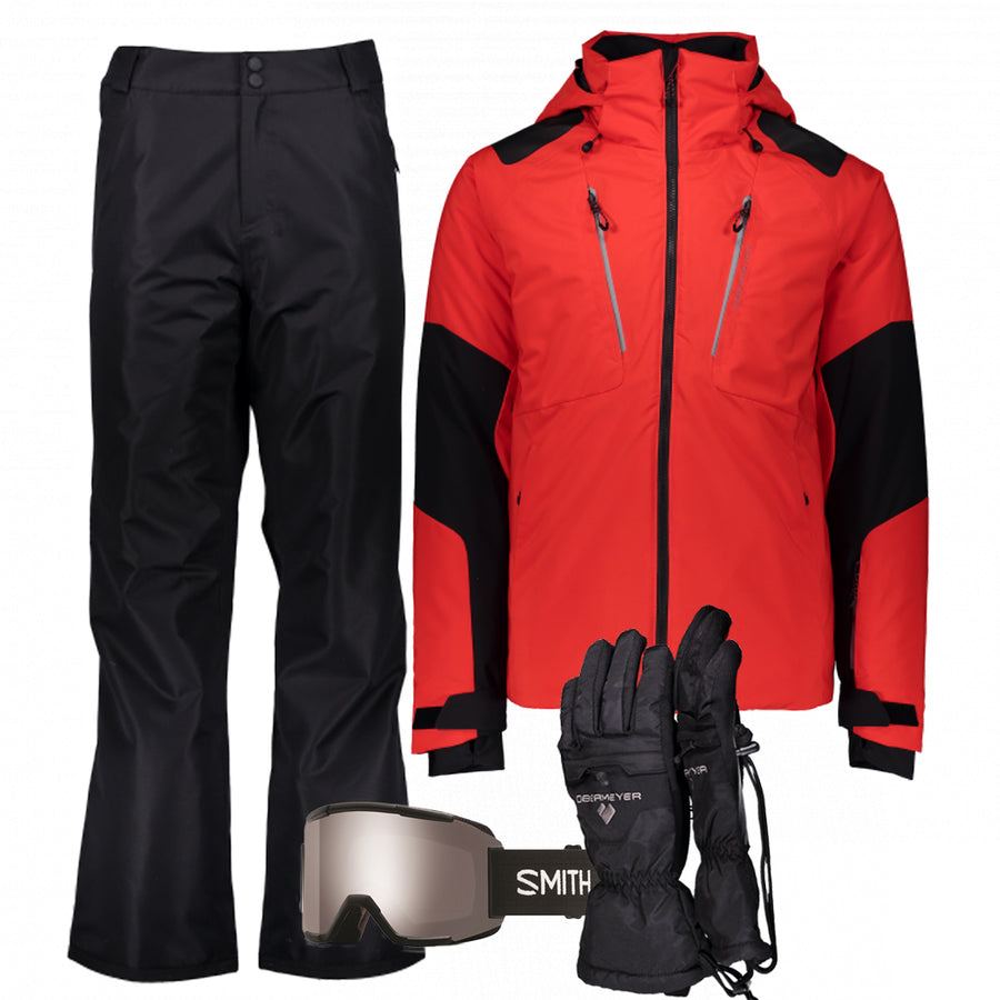 Men's Ski Gear Outfit (Red/Black)