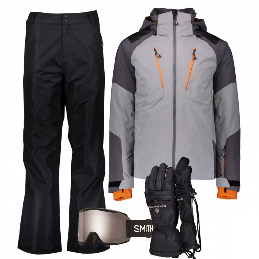 Men's Ski Gear Outfit (Fog/Black)