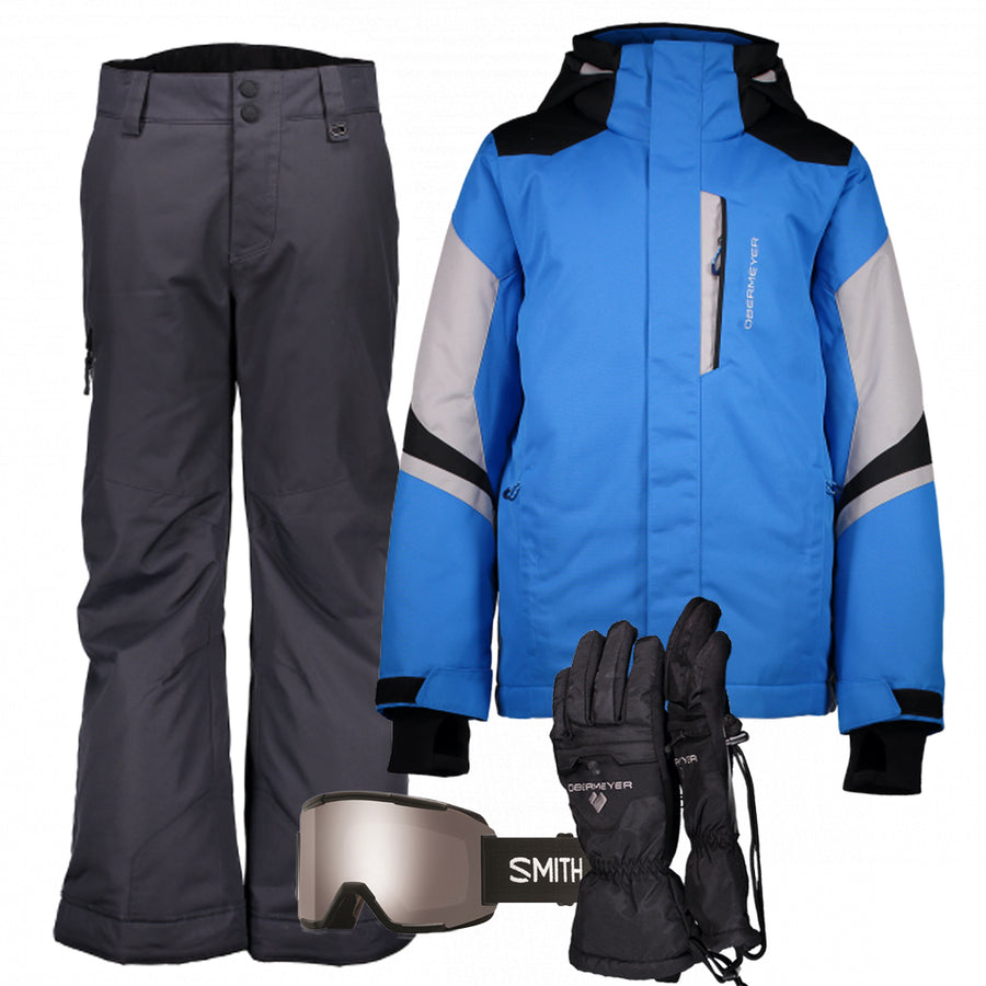 Junior Boy's Ski Gear Outfit (Blue/Ebony)