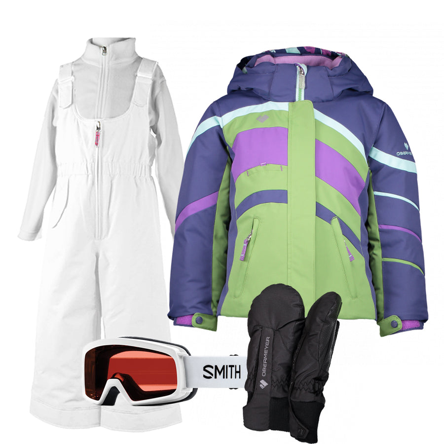 Children's Ski Gear Outfit (Alpine/White- Premium)