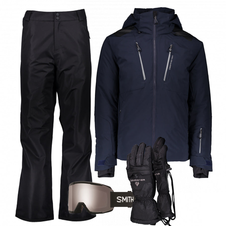 Men's Ski Gear Outfit (Midnight/Black)