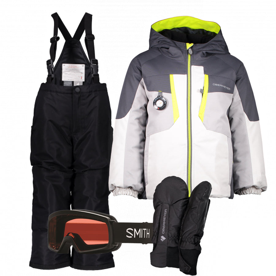 Children's Ski Gear Outfit (Fog/Black)