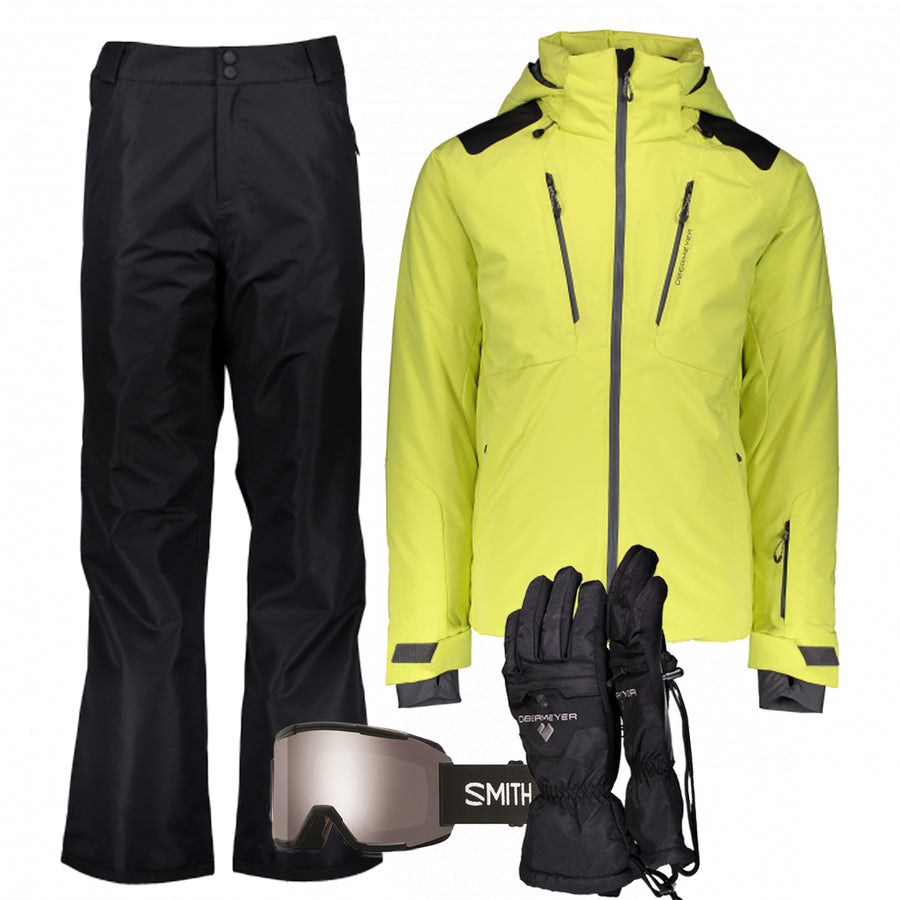 Men's Ski Gear Outfit (Flare/Black)