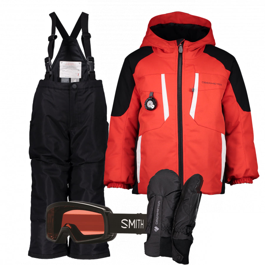 Children's Ski Gear Outfit (Red/Black)