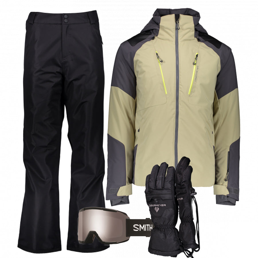 Men's Ski Gear Outfit (Sand/Black)
