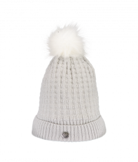 Women's Pom-Pom Knit Hat (White)