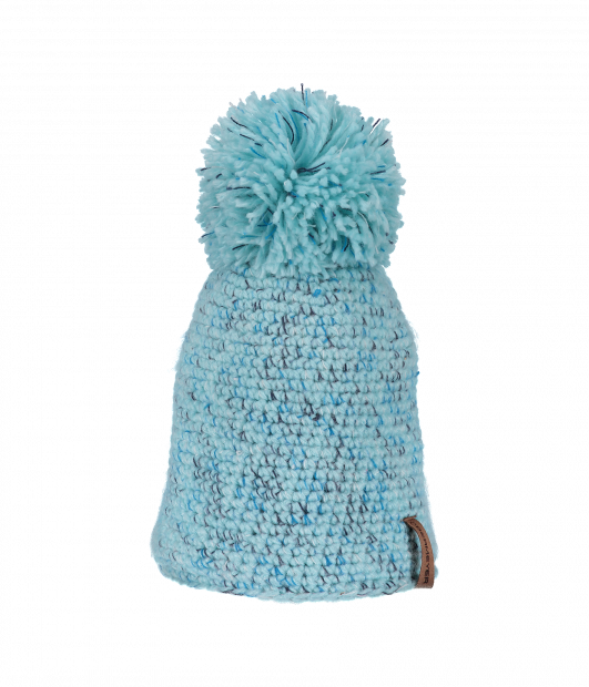 Pom-Pom Knit Hat (Seaglass)
