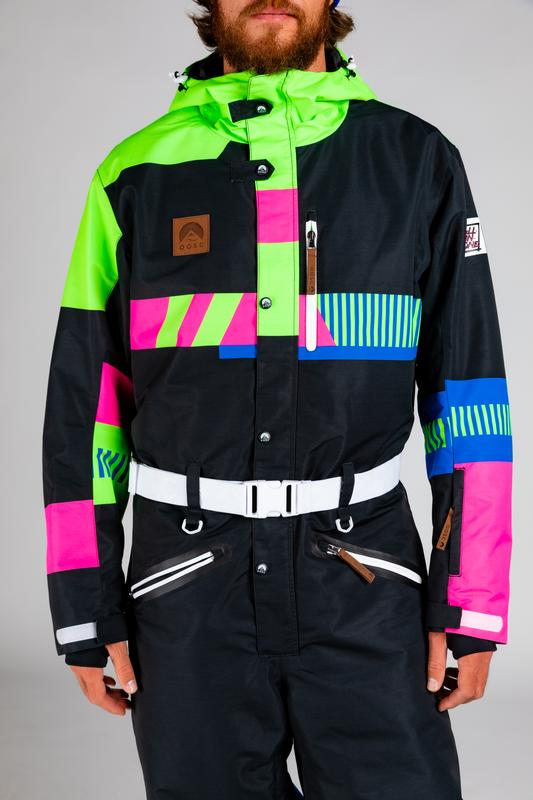 Men's Retro Black Ski Suit