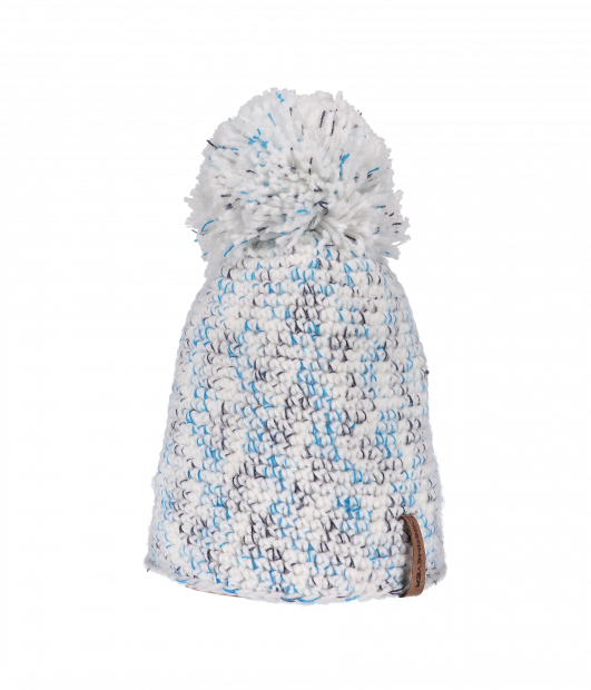Pom-Pom Knit Hat (White)