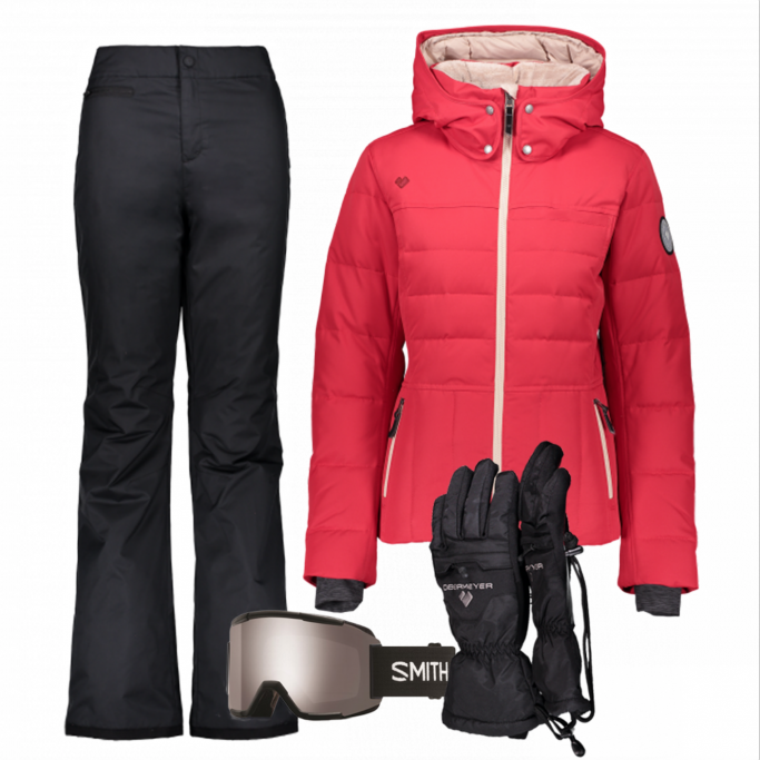 Women's Ski Gear Outfit (Starburst/Black)