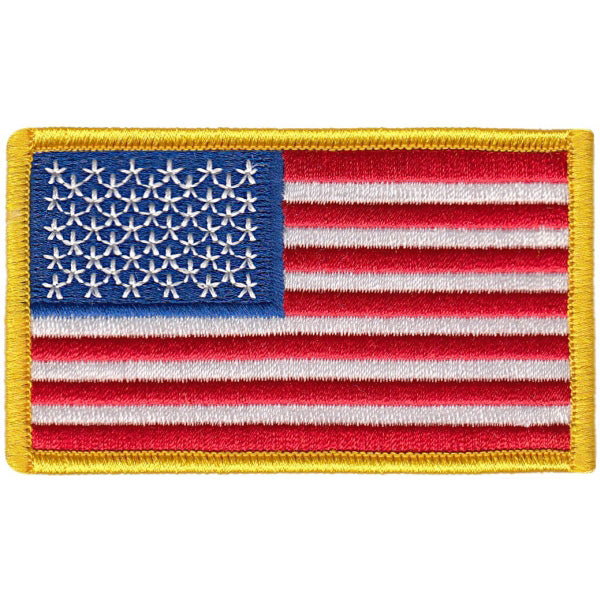 "US Flag - 3 3/8"" x 2"" W/ Velcro Hook Backing"