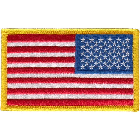 "US Flag - Reverse - 3 3/8"" x 2"" W/ Velcro Hook Backing"