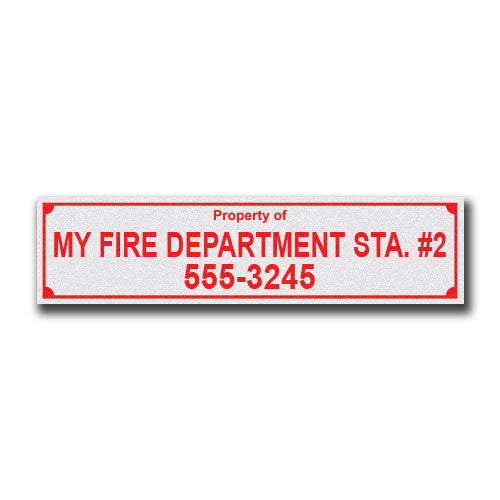 "Large Equipment Labels - 1"" x 4"" Pack of 100"