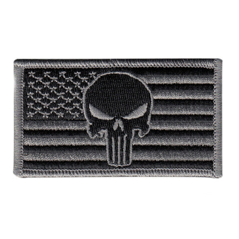 Tactical Punisher Skull US Flag - Forward Facing - Velcro Hook