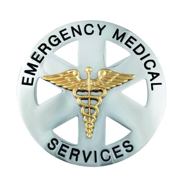 generic emergency medical services round badge the bravest decals