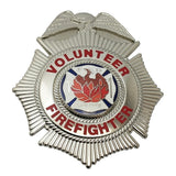 Generic Volunteer Firefighter Maltese-Style Badge