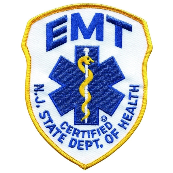 Nj Emt Embroidered Uniform Patch The Bravest Decals