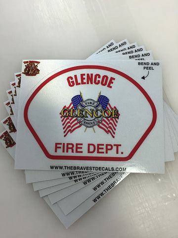 Customize Your Own The Bravest Decals - Custom reflective fire helmet decals