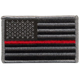 Tactical Thin Red Line US Flag - Forward Facing - Iron-on